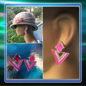 Jewelry - Pink Triangle Earrings